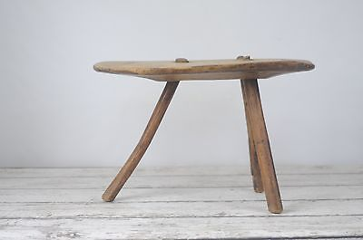 Outstanding Antique Primitive Wood Stool Hand Carved Milking Stool Step Stool Foot Stool Pabps2019 Chair Design Images Pabps2019Com